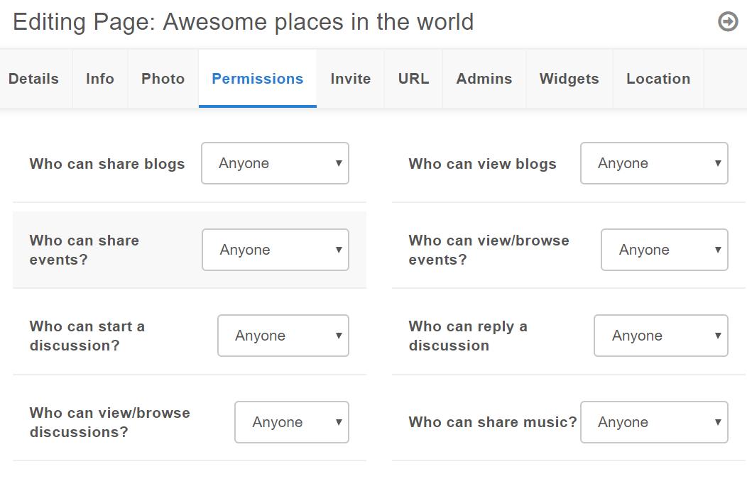 Page - Permission