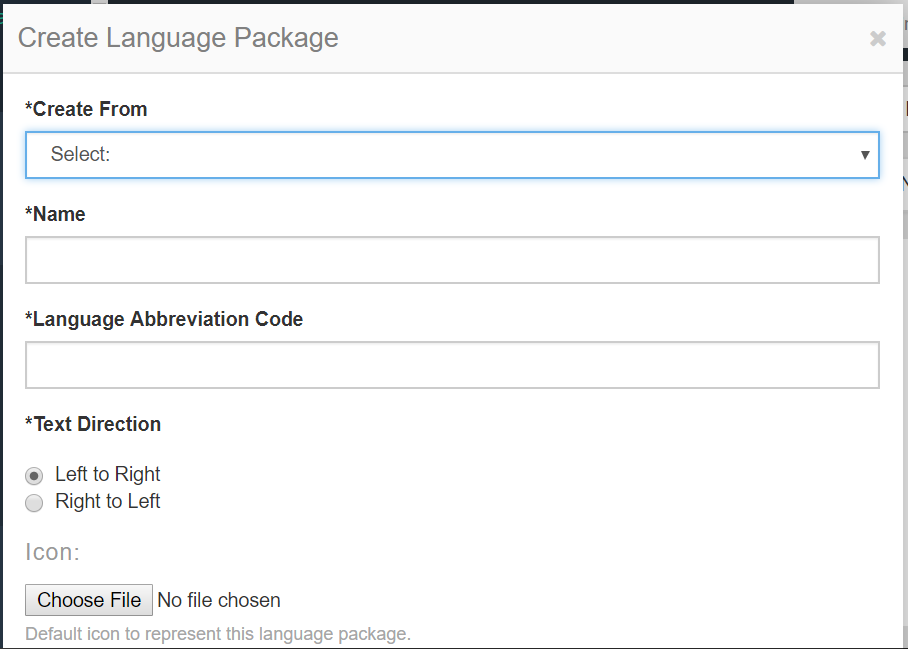 Create language pack