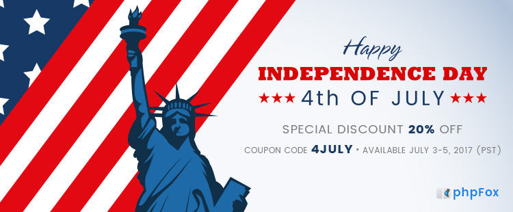 20% OFF on 4th of July