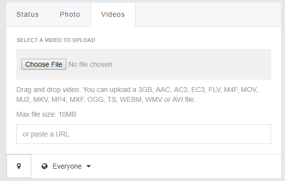 video size