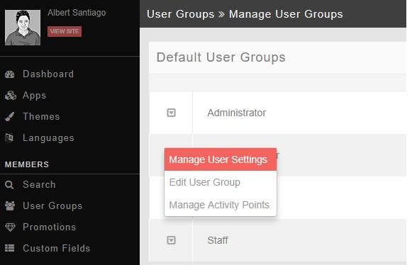 manage usergroup