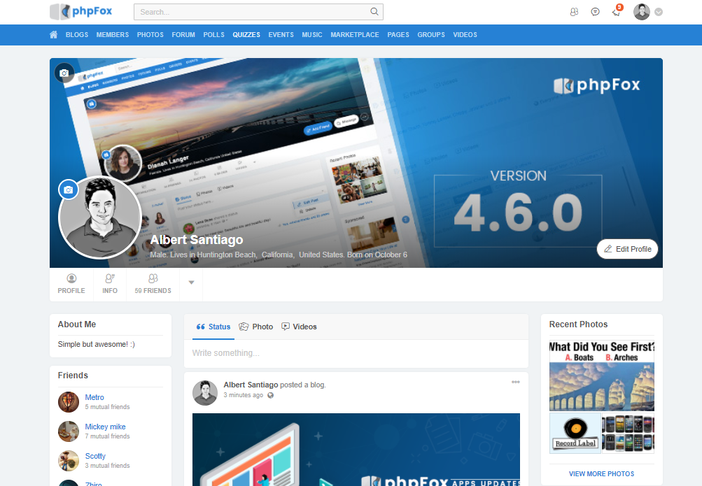 phpFox 4.6.0 Official Release - phpFox Social Network