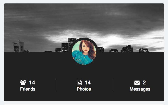 fancy profile block