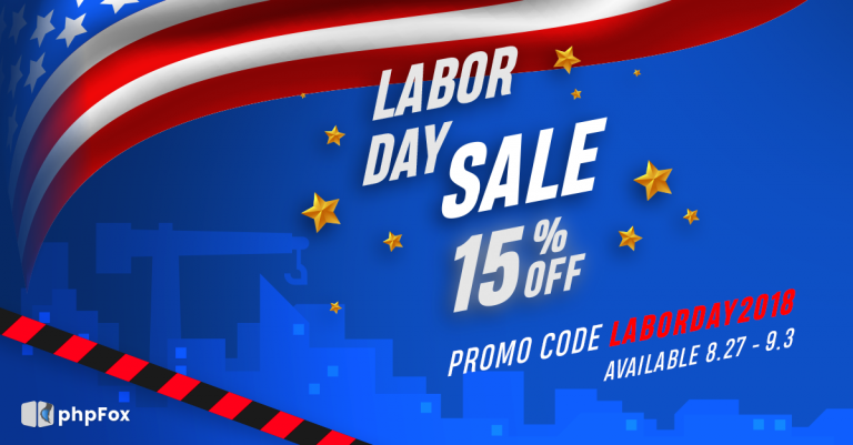 Labor Day Week Promotion 8/27 – 9/3