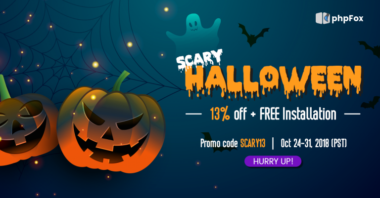 Wickedly phpFox Halloween Treats: 13% Off All Ghoulish Goodies