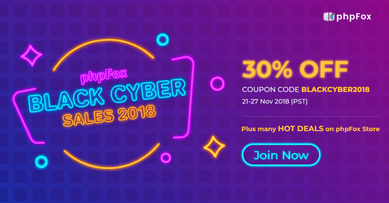 phpFox Black Friday and Cyber Monday deals: 30% OFF and More!