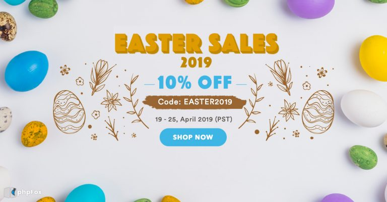 Happy shopping with phpFox Easter Sales 2019
