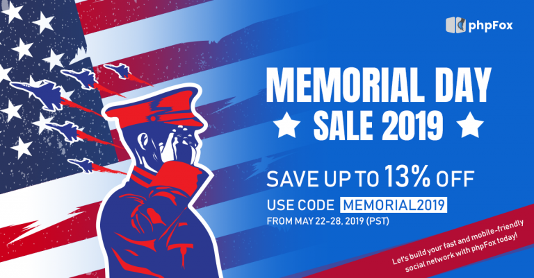 Memorial Day Sale 2019: Save up to 13%!