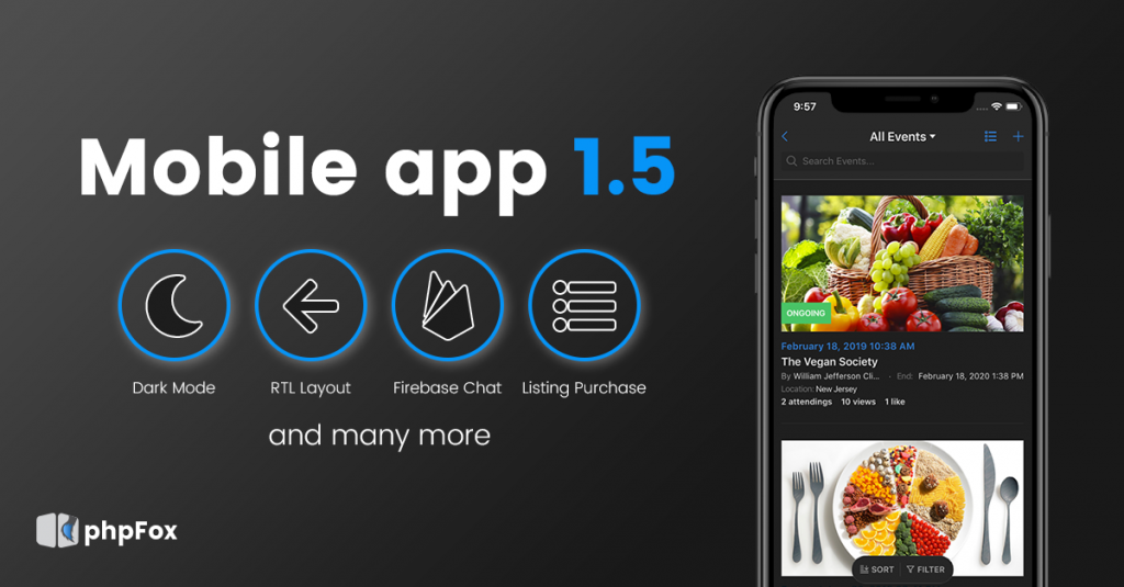 mobile app 1.5 official release