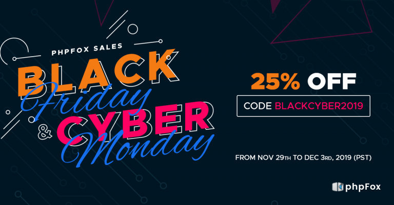 Black Friday & Cyber Monday Sales 2019