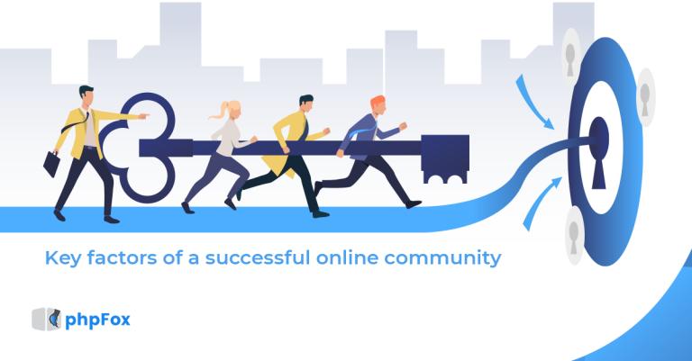 Key factors of a successful online community