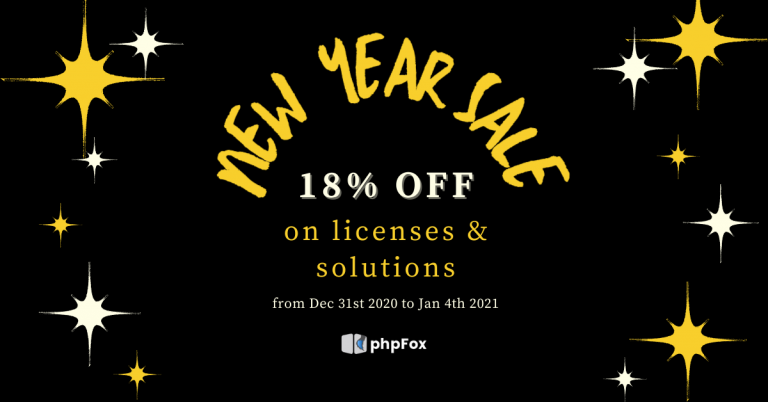 New Year comes with SALE!