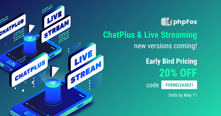ChatPlus & Live Streaming New Coming Release & Promotion