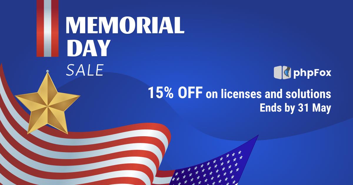 memorial day sale 15% off