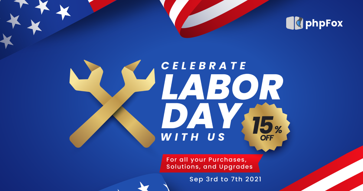 Labor day promotion  Feature   phpFox-laborday